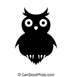 Halloween black owl