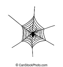Halloween black spider