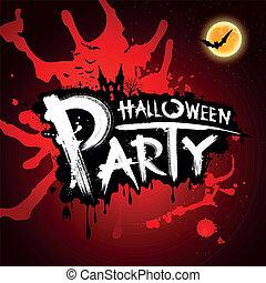Halloween blood red background