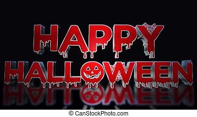 Halloween Bloody Text Animation