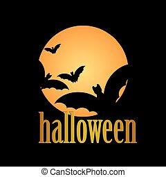 halloween, boodschap, ontwerp, achtergrond, vrolijke