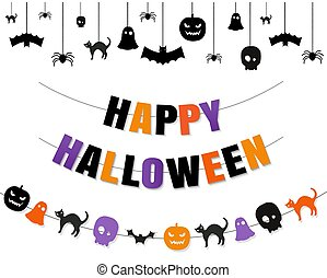 Halloween Border With Isolated Transparent Background
