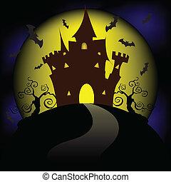 halloween, bringen partei, vollmond