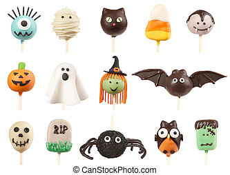 Halloween cake pops - Variety of Halloween cake pops...