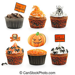 Halloween cakes set - Halloween cakes with decoration set...