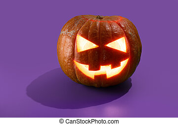 halloween, calabaza, o, o'lantern, gato