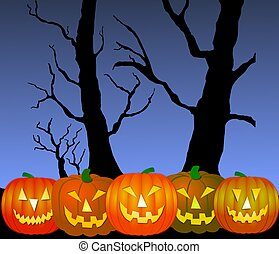 halloween, calabazas