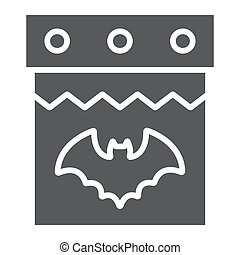 Halloween calendar glyph icon, date and holiday, 31st october sign, vector graphics, a solid pattern on a white background.