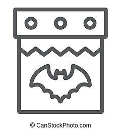 Halloween calendar line icon, date and holiday, 31st october sign, vector graphics, a linear pattern on a white background.