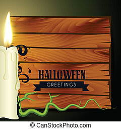 halloween candle design with space for your text
