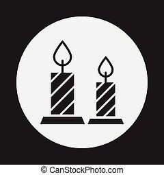 halloween candle icon