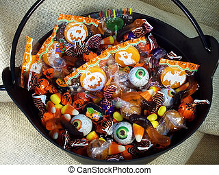 Halloween Candy 1 - Halloween candy in a plastic witches...