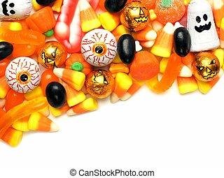 Halloween candy border