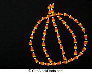 Halloween - candy corn pumpkin