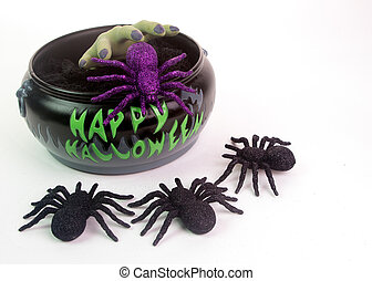 Halloween Candy & Spiders