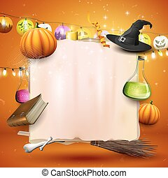 Halloween card or background