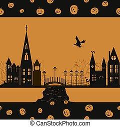 Halloween card seamless pattern bac