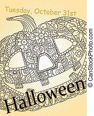 Halloween card vector image pop art
