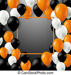 Halloween Card With Color Balloons