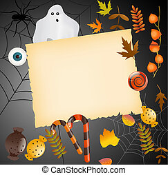 Halloween card with place for your text