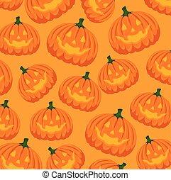 halloween card with pumpkin pattern background