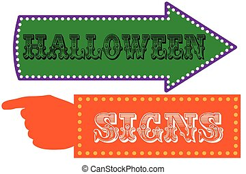 Halloween carnival sign template