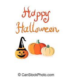 halloween, cartolina auguri, felice