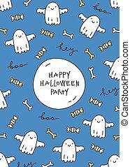 halloween, cartolina auguri