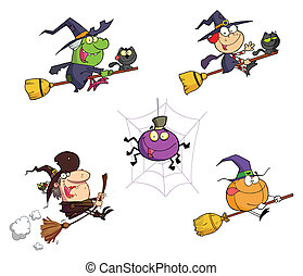 Halloween Cartoon - Collection - Collection Of Four...
