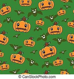 halloween cartoon pumpkin pattern seamless