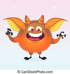 Halloween cartoon vector monster