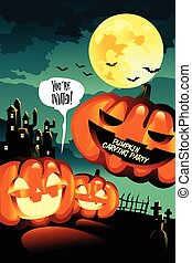 Halloween Carving Party Background