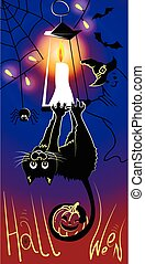 Halloween cat black