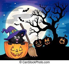 Halloween cat theme
