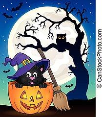 Halloween cat theme image 9