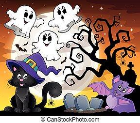 Halloween cat theme image