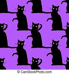 Halloween cats pattern