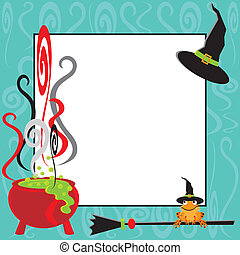 Halloween Cauldron Party Invitation
