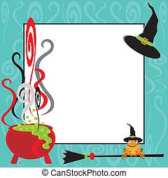 Halloween Cauldron Party Invitation - Cute Halloween Party...