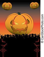 Halloween Celtic - Flyer for your halloween party or fest