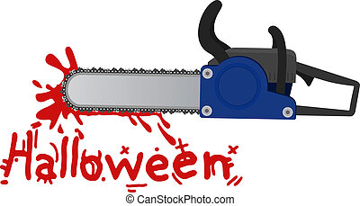 Halloween chainsaw - Creative design of halloween chainsaw
