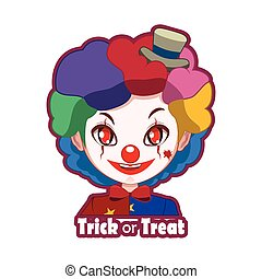 Halloween character badge - Scary Clown