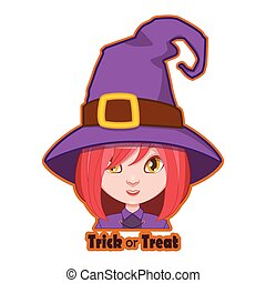 Halloween character badge - Witch