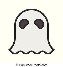 halloween character, haunt ghost character icon, editable stroke