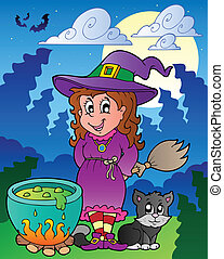 Halloween character scene 1