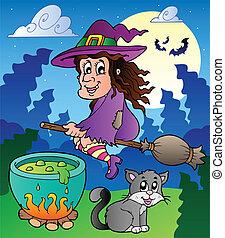 Halloween character scene 2
