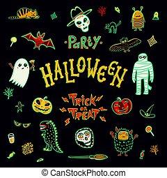 Halloween Character set.