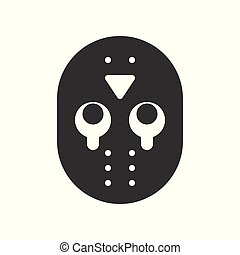 Halloween character vector icon, murderer mask jason