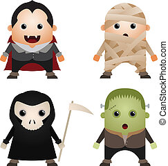 Halloween Characters - Cartoon Characters