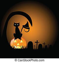 halloween, cimetière